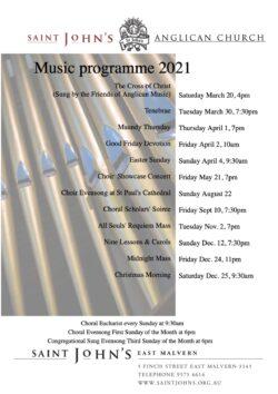 2021 Music Program A4